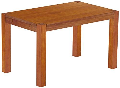Brasilmöbel Esstisch Rio Kanto 130x80 cm Kirschbaum Pinie Massivholz Größe und Farbe wählbar Esszimmertisch Küchentisch Holztisch Echtholz vorgerichtet für Ansteckplatten Tisch ausziehbar