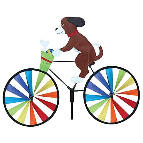 Zuoox Cartoon Bike Spinner Hund Fahrrad Garten Pfahl für Balkon Patio Yard