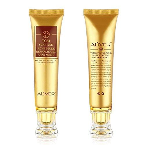 2 Pcs TCM Scar Removal Cream, Skin Repair Face Cream Acne Spots Acne Treatment Stretch Marks 30ml (2 Pack)