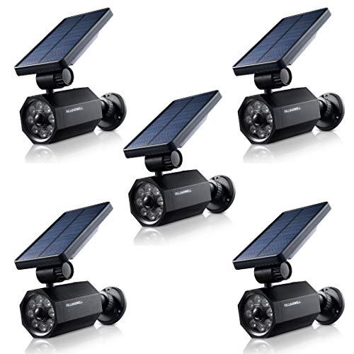 Bell + Howell Bionic Spotlight Solar Spot 25 Feet Motion Sensor, Sun Panels, Waterproof Frost Resistant Patio, Yard and Outdoor Lighting As Seen On TV, 5 pack, Black