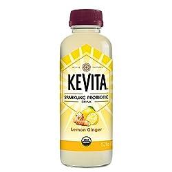 KeVita Sparkling Probiotic Drink, Lemon Ginger, 15.2 oz.