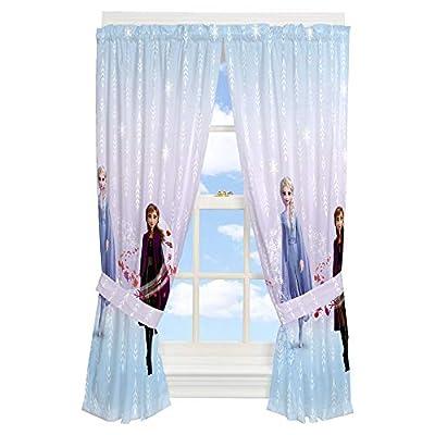 "Franco Kids Room Window Curtain Panels with Tie Backs Drapes Set, 82"" x 63"", Disney Frozen 2"