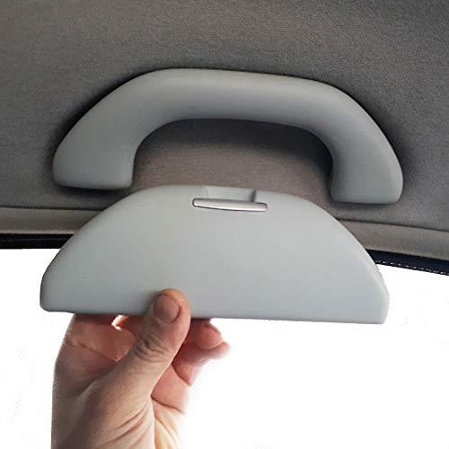 Auto Sonnenbrille Box Sonne Brille Halter Brillenetui Brillenhalter Lagerung Zubehör für Polo 6R Skoda Rapid Octavia Grau