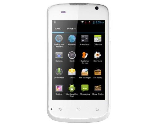 Mobistel MT-350W Cynus E1 Smartphone (8,9 cm (3,5 Zoll) HVGA Display, 3 Megapixel Kamera, 1GHz Dual-Core Prozessor, Android 4.2) weiß