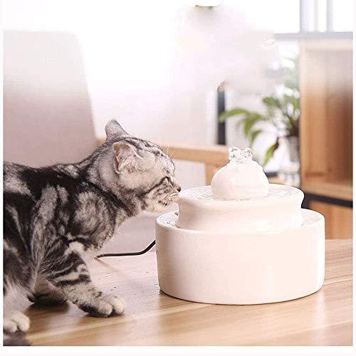 Keramik Trinkbrunnen Hund Katze Trinkbrunnen-Wasser-Zufuhr Automatische Circulation Brunnen Fancy Indoor-Brunnen Make Kätzchen mehr wie (Farbe: Weiß, Größe: Größe-4) Automatische Fütterung, schön und