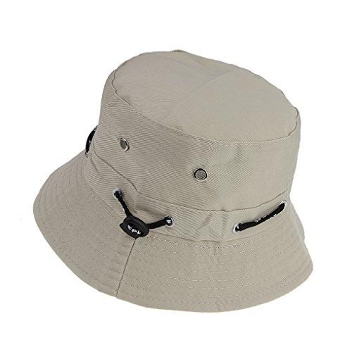 longteng Damen Fischerhut Faltbarer Sommerhut Baumwolle Eimer Hut Sonnenhut UPF 50+ UV Schutz Outdoor Strandhut breite Krempe Kappe für Wandern und Camping