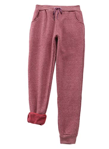 Best Prices! Andongnywell Women's Winter Sherpa Lined Sweatpants Active Running Jogger Harem Pants (...