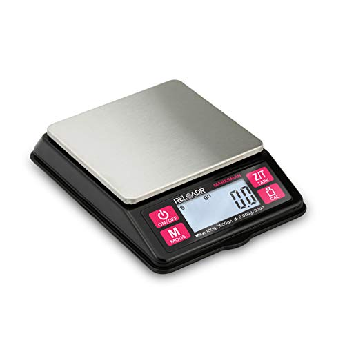 Truweigh MARKSMAN Digital Reloading Scale - 100g X 0.005g - Grains X 0.1gn - Black - Digital...