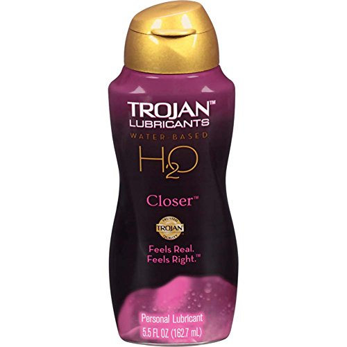 Trojan Lubricants H2o Closer Water Based Personal Lube Feels Real Feels Right, Size 5.5 ounce
