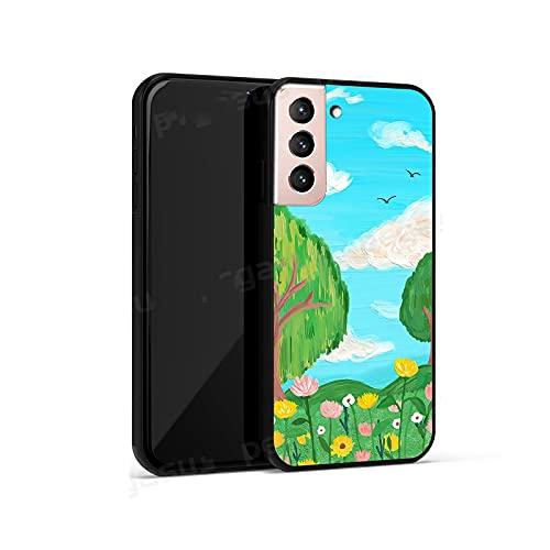 Samsung Galaxy Note 20 10 9 Samsung S20 S10 S9 S8 Plus S10e Verano Nuevo Paisaje Pastoral Pintura al óleo Estilo Teléfono Case-Green Plants-Samsung S10e