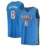 Rencai Danilo Gallinari # 8 Jersey del Baloncesto de los Hombres, Oklahoma City Thunder Nueva Tela Alero sin Mangas de la Camisa de los Jerseys (Color : 2, Size : XXL)