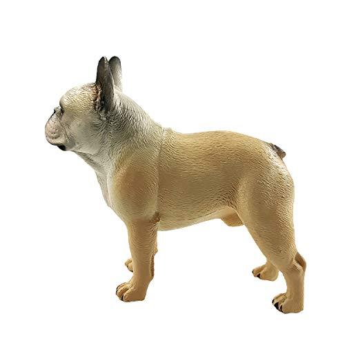 LKXHarleya Mini Size Simulation Bulldog Figurine Animal Model Pug Dog Statue Figure Home Decor Children Toy Gift, H