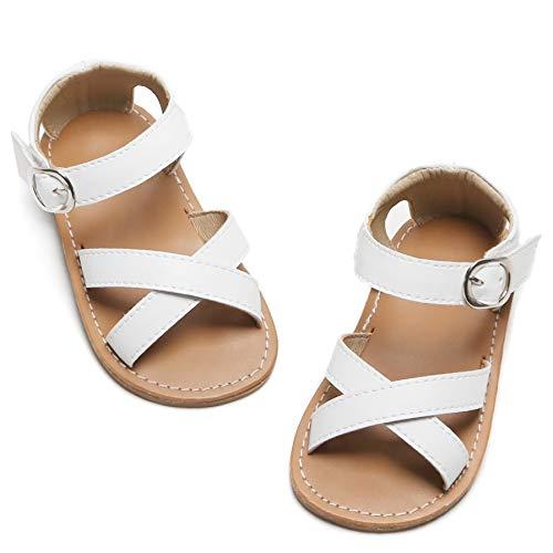 Kiderence Toddler Girls Slides Sandals Kids Sandals Little Girls Shoes White Toddler 9M