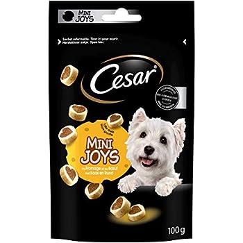 CESAR Mini-Joys - Récompenses au Fromage et au Poulet pour Chien, 6 Sachets de 100g de Friandises