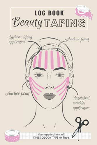 LOGBOOK BEAUTY TAPING - YOUR APPLICATIONS OF KINESIOLOGY TAPE ON FACE: Log Book to Recording Facial Kinesio Taping Techniques to eliminates Sagging ... Relaxing Muscles, Anti Aging total effect