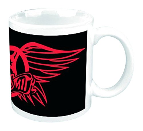 Empire Merchandising 693457 Aerosmith Red Wings Logo Taza tamaño, diámetro 8,5 Horas 9,5 cm