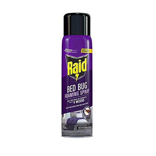 Raid Bed Bug Foaming Spray, for Indoor Use, Non-Staining 16.5 Ounce (Pack of 6)