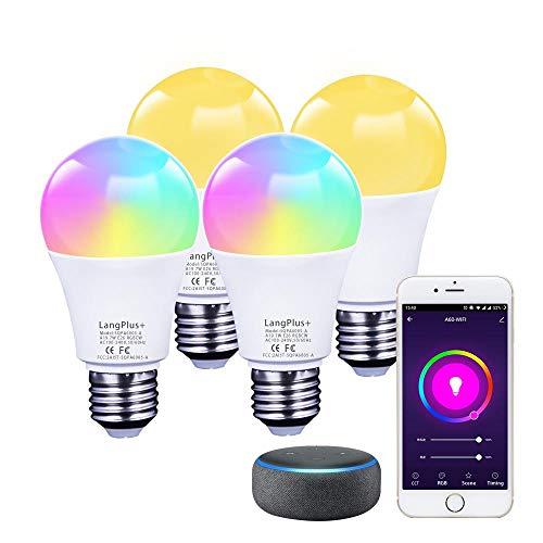 E27 Lampadina Wifi Intelligente 7W=60W 600lm, A60 Smart Led Dimmerabile