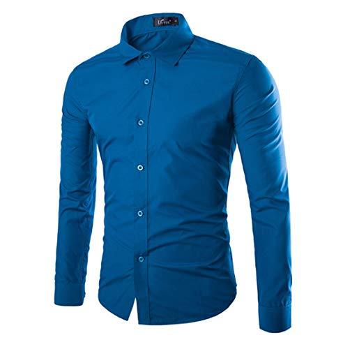 Herren Funky Floral Checked Shirt Lässiges Langarmhemd Button Langarmhemden Printed T-Shirt Kariertes Einfarbiges Hemd,3XL