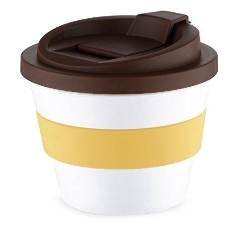 Chef Sauce Vaso café con Tapa Multicolor, 250 ml