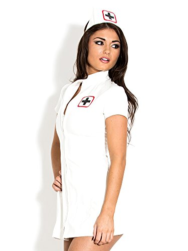 Honour Vestito Sexy da Infermiera in PVC Bianco - Sexy Fetish - L
