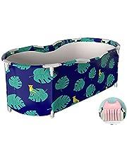 LHHL Uitgebreide volwassen draagbare badkuip opvouwbaar vrijstaand bad vat isolatieontwerp, met rugkussen (kleur: B)