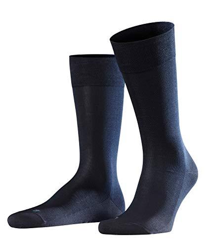 FALKE Herren Socken Sensitive Malaga - 96% Baumwolle, 1 Paar, Blau (Dark Navy 6370), Größe: 43-46