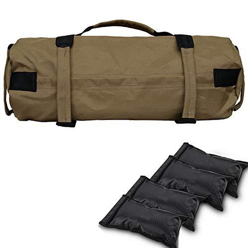 OUYA Saco De Arena Fitness Power Bag, Ajustable Peso 40LB Saco de Arena con Asas, para Entrenamiento