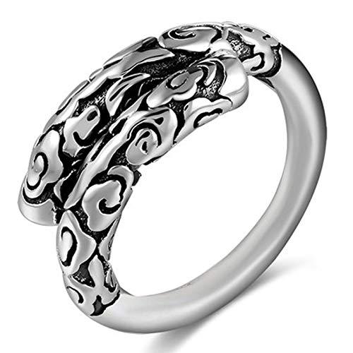 XIRENZHANG Alter Silberschmied 99 Reine Silberring Männer und Frauen Wunsch Goldener Reifen Öffnen Verstellbare Retro- Mode Thai Silber Ring
