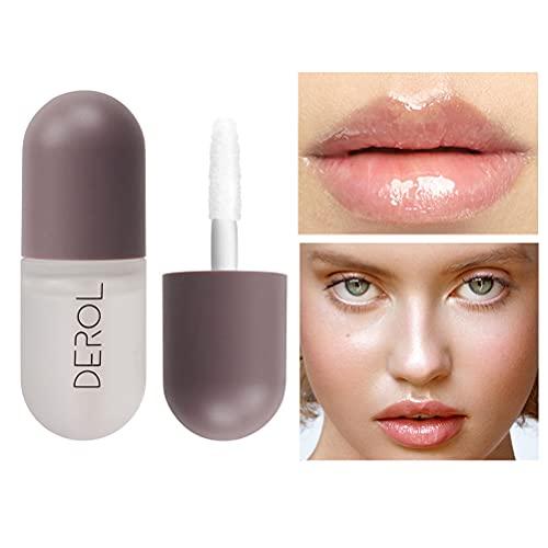 Natural Lip Plumper, Lip Enhancer, Lip Plumping Balm, Moisturizing Clear Lip Gloss for Fuller Lips &...