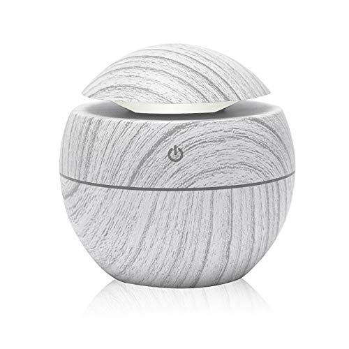 ZDZQTM 130Ml Aroma Essential Oil Diffuser Mini Air Humidifier USB Ultrasonic Mist Aromatherapy Portable Air Purifier LED Night Light (Color : White)