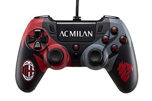 Wired Controller AC Milan con Cavo per PlayStation 4 (PS4), Connettore Audio con jack da 3.5mm e funzione Turbo - PlayStation 4