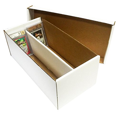 (5) Graded Shoe 2-Row Cardboard Storage Boxes - Baseball, Football, Basketball, Hockey, Nascar, Sportscards, Gaming & Trading Cards Collecting Supplies by MAX PRO - GSB image