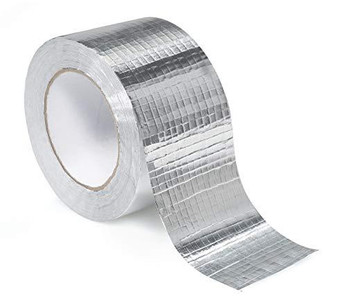 STERR - Cinta reforzada de aluminio Cinta de aluminio plateada 72 mm x 45 m