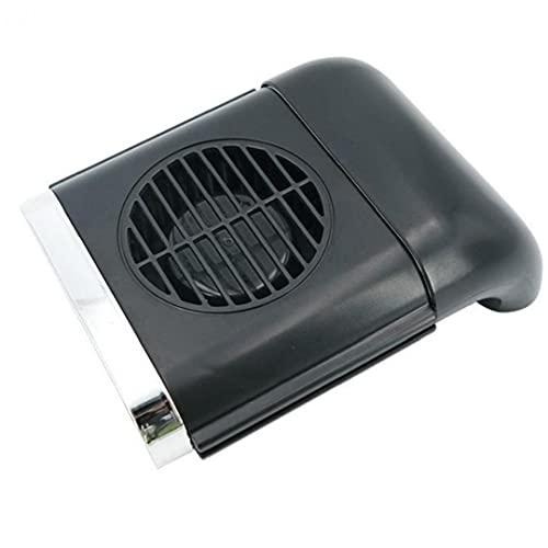 Ajuste Dual Cabeza Coche Auto Refrigeración Aire Aire Ventilador Potente Potente Tablero Eléctrico Aficionado Al Coche para Vehículo, Asiento Trasero, Barco, Bebé, Escritorio Negro