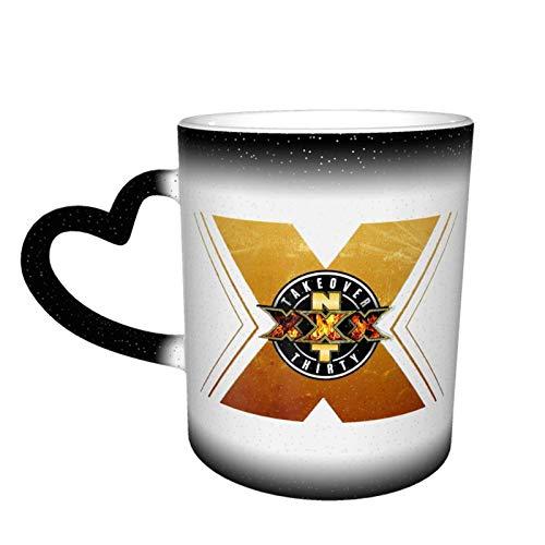 Tazas de café personalizadas que cambian de color – Taza de café mágica personalizada de 13 onzas que cambia de color, taza de cerámica personalizada para regalos de vacaciones (negro)