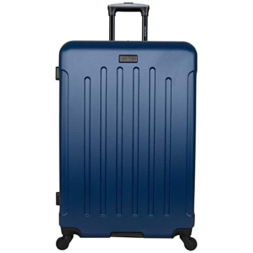 Heritage Travelware Lincoln Park' 28' Durable Lightweight Hardside 4-Wheel Spinner Checked Luggage, Indigo Navy, Inch