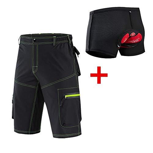 Pantalones cortos Tight de Descenso Masculino Ciclista Resistente al Agua Respirable Fina Ropa de la Bicicleta del Montar a Caballo de Deporte MTB