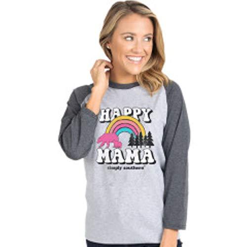 Simply Southern Vintage Happy Mama (Medium) Grey