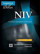 NIV Clarion Reference Bible, Black Calf Split Leather, NI484:X