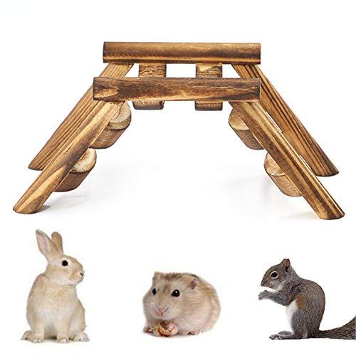 Lai-LYQ Haustier Hamster Maus Vogel Holzbrücke Kletterleiter Übungsspiel Treppe Spielzeug