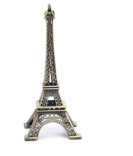 PROW® 15cm París Torre Eiffel Artesanía de Hierro Arquitectura Modelo Escritorio Decoración para el hogar Arte Regalo, Bronce