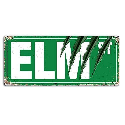 Lilyanaen New Metal Sign Aluminum Sign Elm Street Claws Wall Sign for Outdoor & Indoor 8'x12'