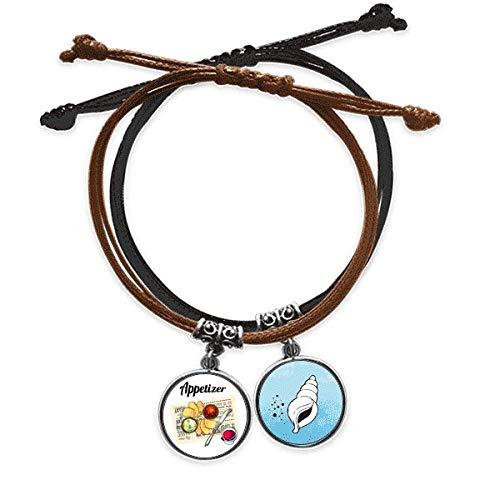 DIYthinker Armband für Wein Aperitif Brot Seil Hand Kette Armband Leder Kegel