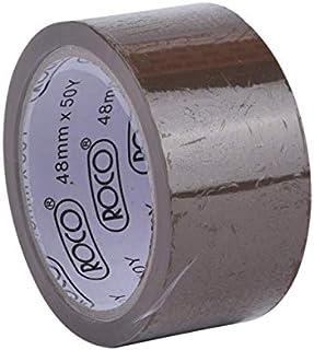 شريط تغليف لاصق من روكو، عرض 48 ملم × طول 50 ياردة، بني
