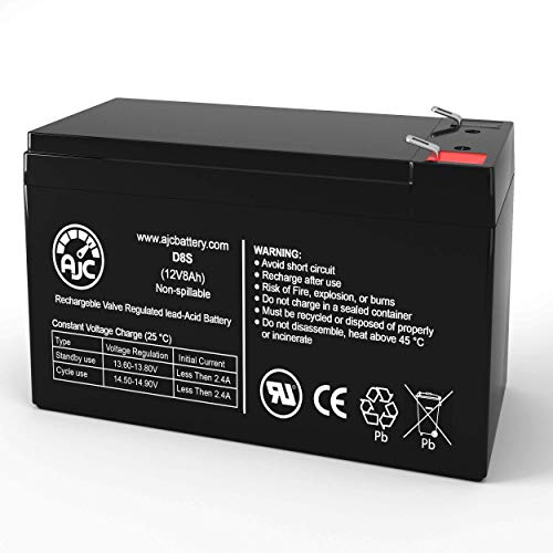 AJC Battery Compatible with Duracell DURA12-8F2 12V 8Ah Sealed Lead Acid Battery