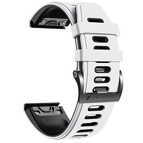 NotoCity Bracelet Fenix 5X, Remplacement avec Bracelet de 26 mm de Largeur pour Fenix 5X Plus/Fenix 6X/Fenix 6X Pro/Fenix 3/Fenix 3 HR/Descente MK1/D2 Delta PX(Blanc Noir)