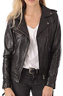KYZER KRAFT Womens Leather Jacket Bomber Motorcycle Biker Real Lambskin Leather Jacket for Womens by