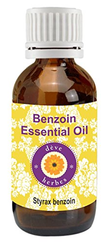 Deve Herbes Pure Benzoin Essential Oil 50ml (Styrax benzoin) 100% Pure and Natural Therapeutic Grade