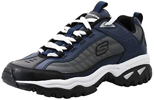 Skechers Men's Energy Afterburn Navy/Grey Road Running Shoes 14 M US